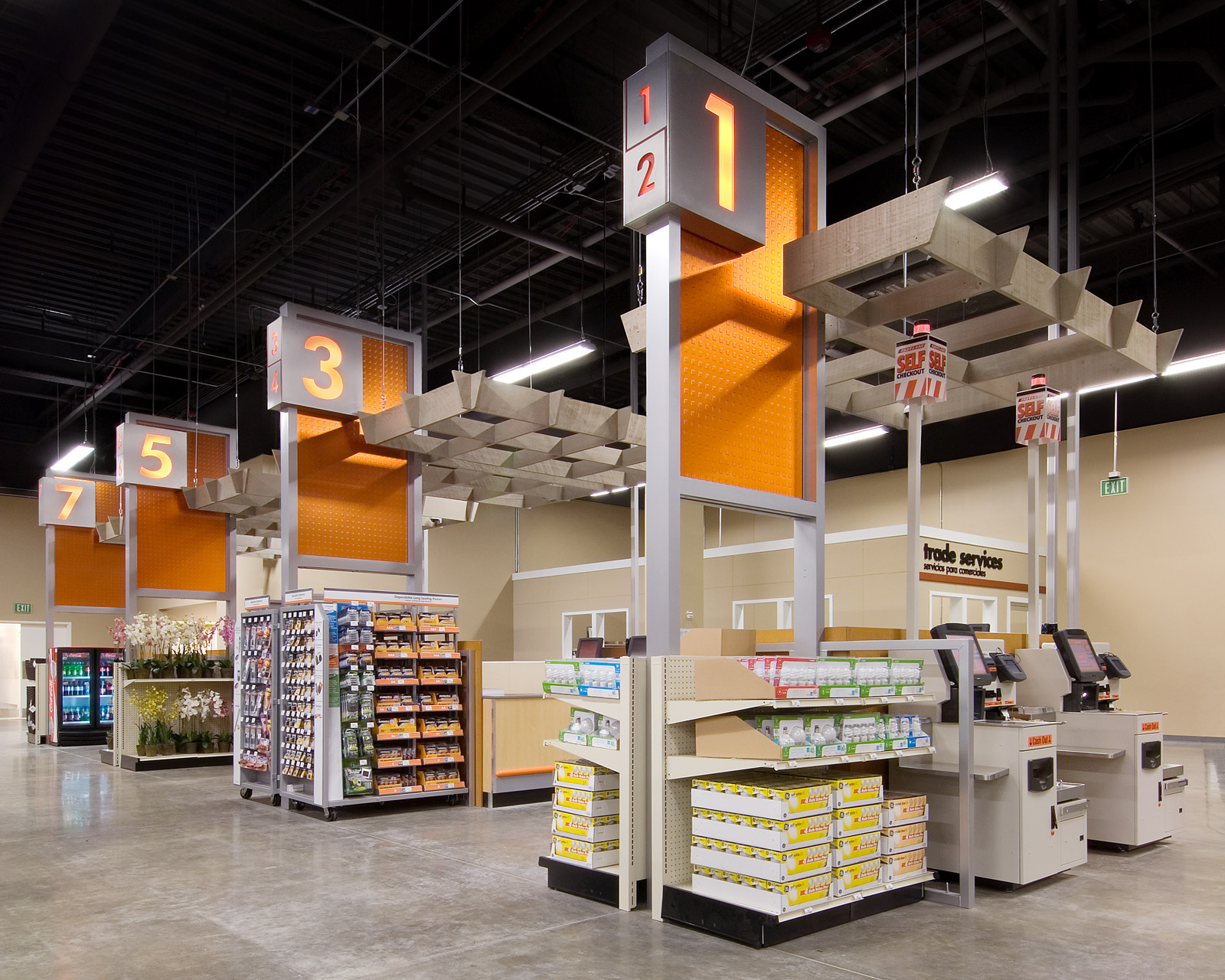 Retail displays fixtures environments for Shop home depot