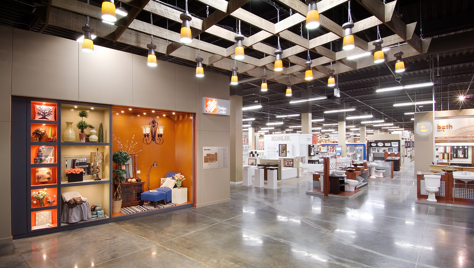 Retail displays fixtures environments for Depot ringcenter