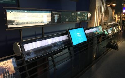 iWall Interactive Ice Core Exhibit Helps Visitors Explore 100,000 Years of Climate Change