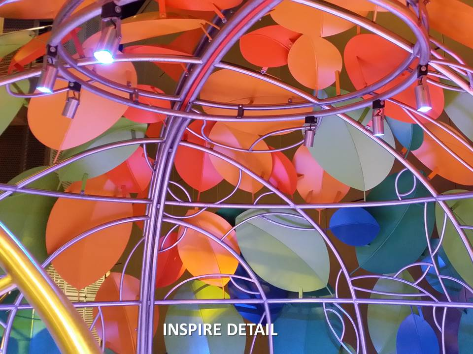 Detail of INSPIRE Metal Work & Lighting
