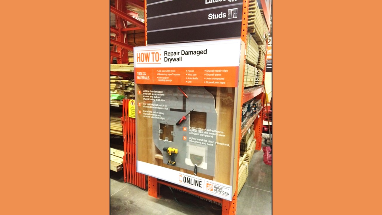 Home Depot Store of the Future Drywall