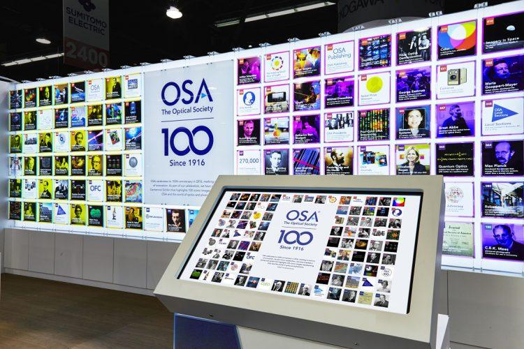 OSA Centennial Exhibit Interactive Kiosk