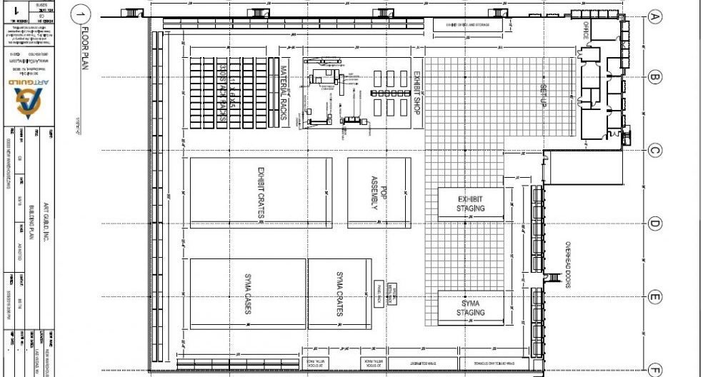 Art Guild Vegas Facility Interior Floor Plan