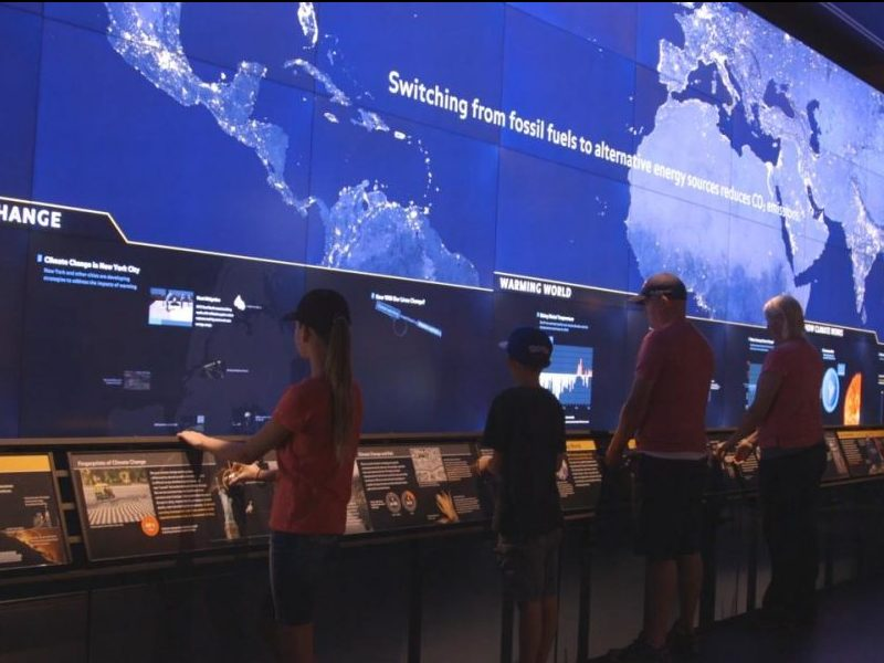 Another Section of the Hall of Planet Earth Climate Change Exhibit