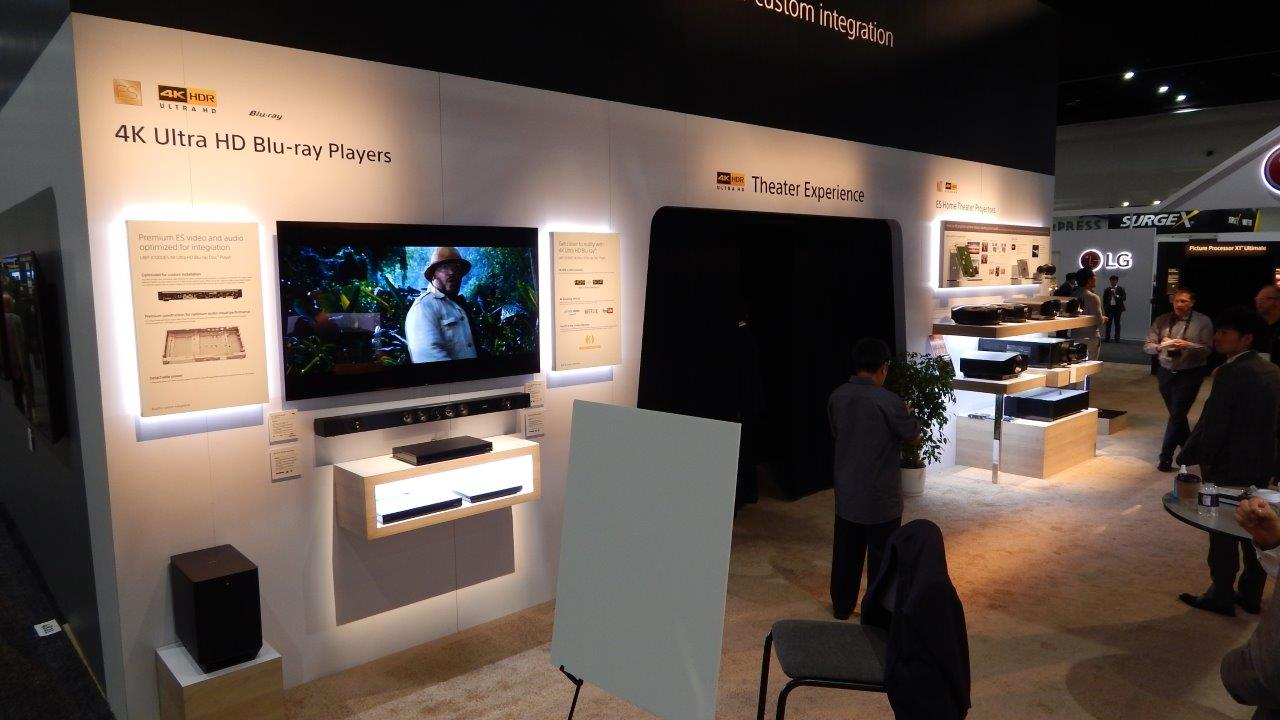 SONY Booth 4K Blu-ray Player Demo - CEDIA Expo 2018