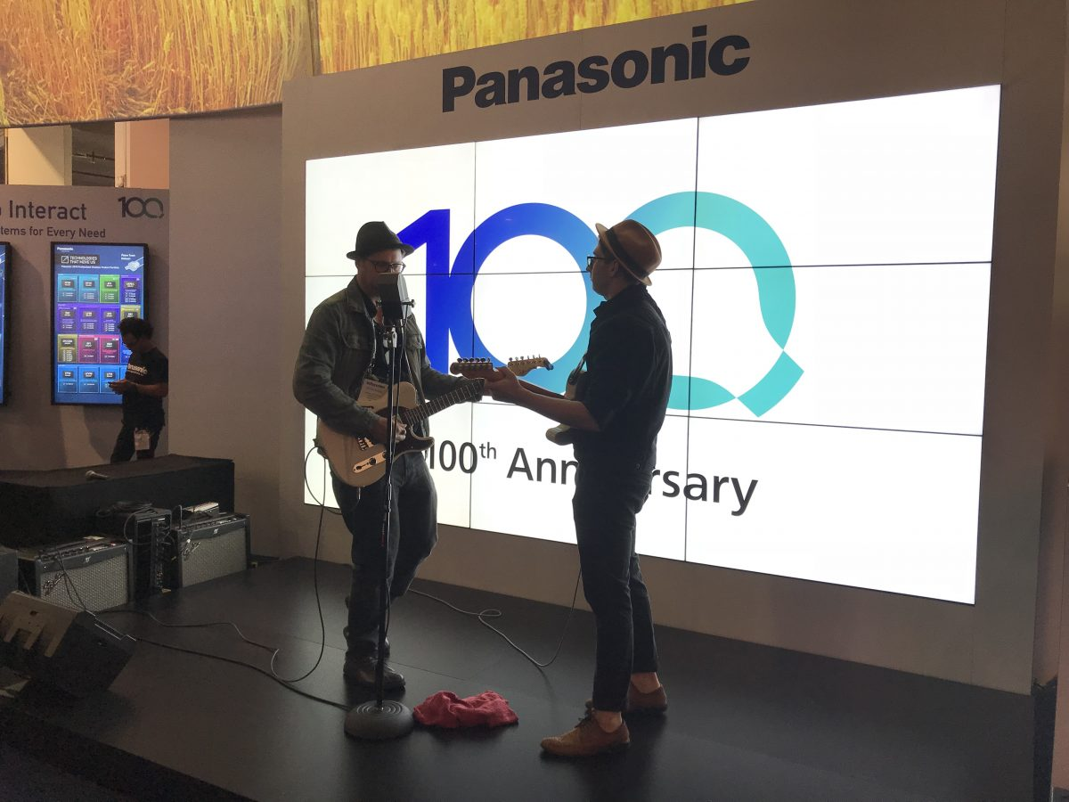 Live Performance Used in Panasonic Live Event Technology Demo