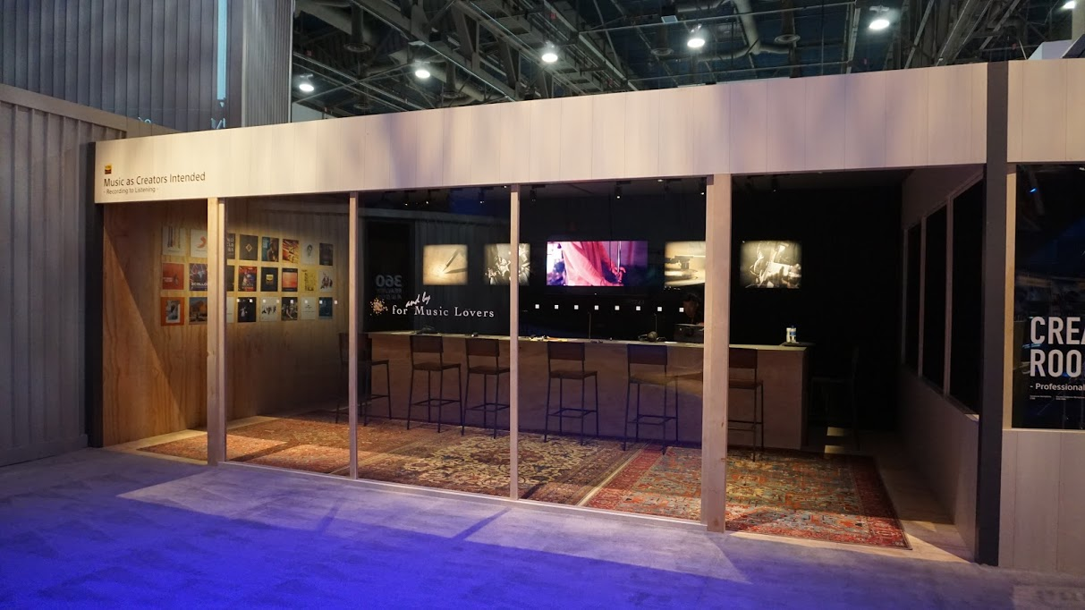SONY at CES Headphone Listening Bar