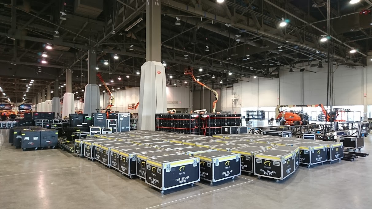 Ready to Build the SONY Exhibit at CES 2019
