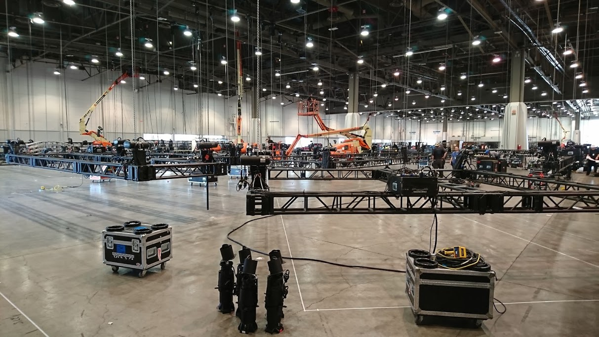 Prepping Rigging for the SONY CES Exhibit