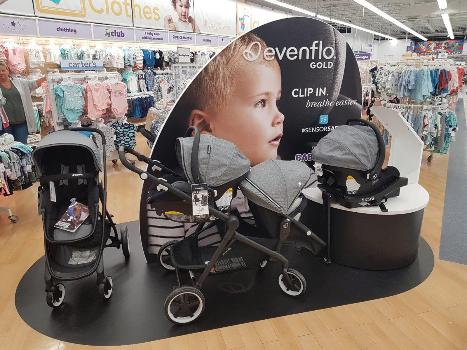 Evenflo Gold Retail Display Babies-R-Us Canada