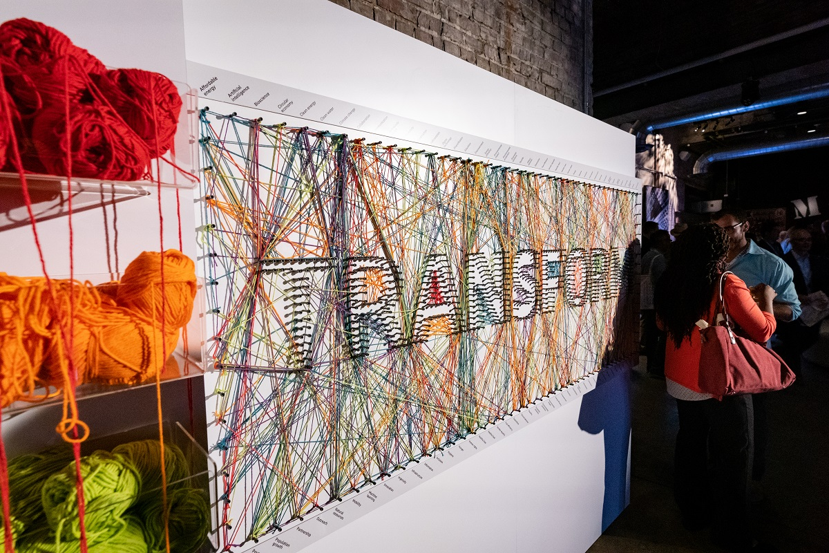 """Transform"" Interactive Board at Transform Event"