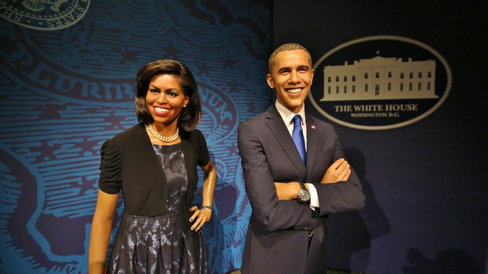 Michelle and Barack Obama at The Franklin Institute